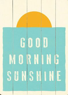 Good Morning Sunshine Wall Decor