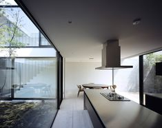 Apollo Architects and Associates, floor and skinny kitchen