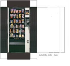 Miniature snack vending machine.