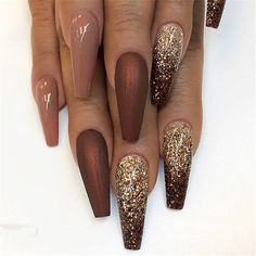 "If you're unfamiliar with nail trends and you hear the words ""coffin nails,"" what comes to mind? It's not nails with coffins drawn on them. It's long nails with a square tip, and the look has. Coffin Nails Long, Stiletto Nails, Long Nails, Gel Nails, Nail Nail, Polish Nails, Toenails, Short Nails, Fall Nail Designs"