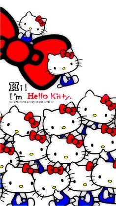 Hello Kitty Iphone Wallpaper, Hello Kitty Backgrounds, Sanrio Wallpaper, Cute Disney Wallpaper, Kawaii Wallpaper, Hello Kitty Clothes, Hello Kitty Art, Hello Kitty Pictures, Sanrio Hello Kitty