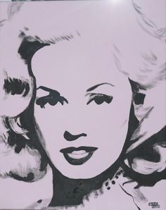 Mamie Van Doren - Acrylic portrait by Jessica Lentz