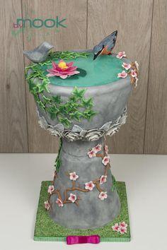 Bird Bath Cake