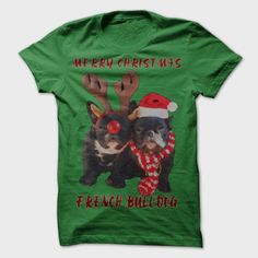 Merry Christmas French Bulldog, Order HERE ==> https://www.sunfrog.com/Holidays/Merry-Christmas-French-Bulldog-191083590-Guys.html?id=41088 #bulldogs #bulldoglovers #christmasgifts #xmasgifts