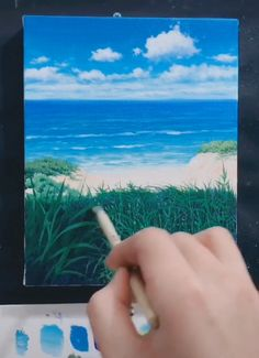 1 Lets learn to draw together. innovative Oil painting # DIY Oil painting # Oil painting Acrylic Painting acrylic painting DIY draw innovative Learn Lets oil painting paintingSea Canvas Painting Tutorials, Acrylic Painting Canvas, Diy Painting, Painting Videos, Learn Painting, Beach Canvas Paintings, Beach Scene Painting, Oil Painting Lessons, Canvas Painting Landscape