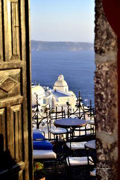 Cafe in Fira - Santorini, Greece