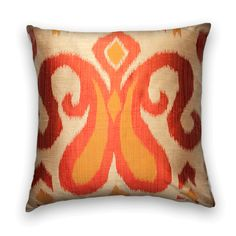 Robert Allen Ikat...a study in shades of orange and gold.