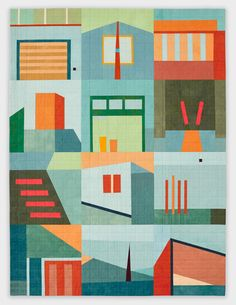 """Love the colors and clean lines. Big Quilt #3, 41.5"""" x 55.5"""""""