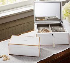 Bonjour Lacquer Jewelry Box - Pottery Barn - $99