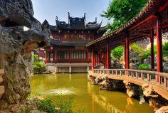 The serene YuYuan Gardens, Shanghai, China.