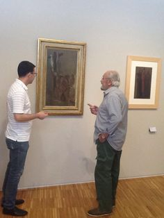 Museo Arte Contemporanea donazione opera #DoloresPuthod les pleureuses con il direttore del Museo #PaoloBolpagni e il curatore #Franco Rudoni
