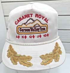 41d38a43bca Cabaret Royal Carson Valley Inn Gold Leaf Cord Casino Gambling Cards  Strapback  Otto  BaseballCap