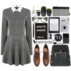 Chapter One | Sheinside Contest by alexandra-provenzano on Polyvore featuring moda, H&M, Le Donne, Maison Margiela, Paul Smith, Monkey Business, Montblanc, Nikon and Urbanears
