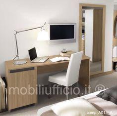 comp. A013_A - #scrivania x #arredo #camera #hotel, #albergo o #residence con #frigo-bar incassato.