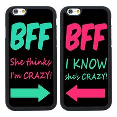 2Pcs Best Friend Couple Case for Iphone 6 6s 4S 5S SE,Iphone 6 Plus,BFF Iphone 7 Case,Iphone 7 Plus,Galaxy S6 S5 S4 S3 S7,Samsung Galaxy Note 6 5 4 3 2,Galaxy S5 Mini,S6 Active,S6 Edge,Galaxy S6 Edge Plus,Galaxy S7 Edge,S7 Plus,Samsung Galaxy S7 Active - Couples Cases