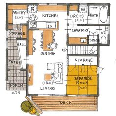 Japan House Design, Small House Design, Apartment Layout, Room Planning, House Layouts, Pallet Furniture, My Dream Home, Decoration, House Plans