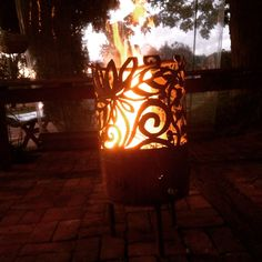 Fire pit by Inge Giebeler using a handheld plasma cutter