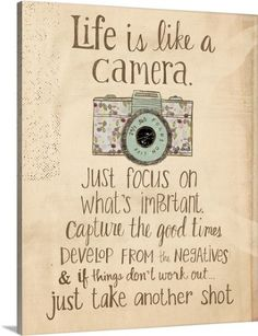 Katie Doucette Premium Thick-Wrap Canvas Wall Art Print entitled Life is like a camera, None