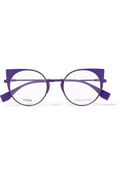 c8048a4803 Fendi - Cat-eye metal optical glasses