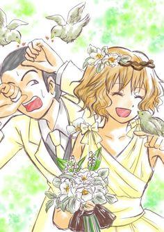 ANSATSU KYOUSHITSU/ASSASSINATION CLASSROOM, Fan Art, Okajima Taiga, Kurahashi Hinano, Wedding Suit