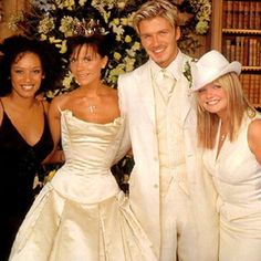 July 1999 Wedding Of David Beckham Victoria Adams With E S Melanie Chisholm Brown Mel B Emma Bunton