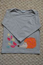 Lovely Baby Boden Girls Grey Hedgehog Applique Long Sleeve Top 18-24 M EUC