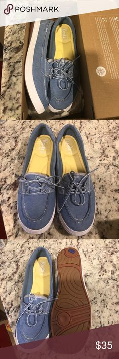 Keds loafers Pritty blue keds soft and comfy never worn brand new. No off site purchases Keds Shoes Flats & Loafers