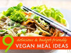 Great budget-friendly and easy vegan recipes!