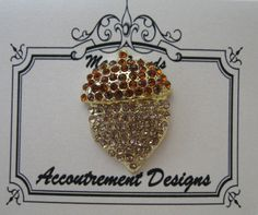 Accoutrement Designs Acorn Autumn Needle Minder Magnet Pin Mag Friends #AccoutrementDesigns