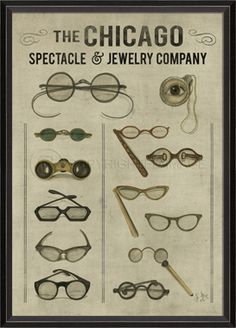 "The Chicago Spectacle and Jewelry Company 30"" x 24"" $230.00"