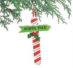 North Pole Popsicle Stick Ornament