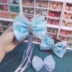 Diy Baby Headbands, Diy Headband, Baby Bows, Diy Bow, Diy Ribbon, Ribbon Crafts, Making Hair Bows, Diy Hair Bows, Bow Template