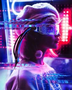 Photos on the Community Wall - Images Arte Cyberpunk, Cyberpunk Aesthetic, Cyberpunk Girl, Neon Aesthetic, Neon Photography, Creative Photography, Portrait Photography, Capas Dvd, Photoshoot Concept