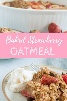 This Strawberry Baked Oatmeal is a healthy summer oatmeal staple. This meal prep oatmeal is great for saving time, and you've never tasted a baked oatmeal with strawberries like it before! #strawberrybakedoatmeal #bakedstrawberryoatmeal #bakedoatmealwithstrawberries #strawvberryrecipes Breakfast Slider, Breakfast Dishes, Breakfast Ideas, Breakfast Recipes, Dessert Recipes, Elk Recipes, Healthy Make Ahead Breakfast, Strawberry Oatmeal, Baked Oatmeal Recipes