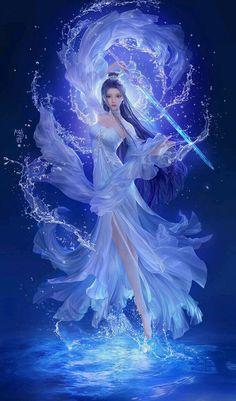 Fantasy Kunst, Anime Art Fantasy, Fantasy Art Women, Beautiful Fantasy Art, Beautiful Anime Girl, Dark Fantasy Art, Fantasy Girl, Fantasy Artwork, Anime Angel Girl