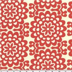 Amy Butler Lotus Wall Flower Cherry from Designed by Amy Butler for Westminster Rowan, this cotton print is perfect for quilting, apparel and home decor accents. Colors include cherry and ivory. Fabric Design, Pattern Design, Red Pattern, Diy Design, Door Draught Stopper, Draft Stopper, Decoupage, Amy Butler Fabric, Motifs Textiles