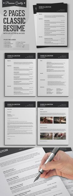 Infographic resume template - Create an awesome resume, cover letter