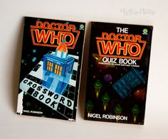 The DOCTOR WHO Quiz Book and Crossword Book by Nigel Robinson by UpStagedVintage on Etsy