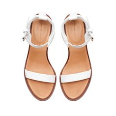 White block sandal with ankle strap – Zara