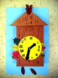 """From exhibit """"Cuckoo Clocks (craftsman, Black Forest, Germany)"""" by Germany For Kids, Fairy Tale Crafts, Art For Kids, Crafts For Kids, Clock Craft, World Thinking Day, Holidays Around The World, Art Lesson Plans, Elementary Art"""