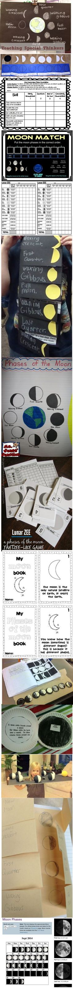 Teaching the phases of the moon just got a little easier. Here are 21 super moon phases activities and resources including a few printables, a song and videos.