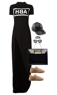 """Baller"" by xoxomuty on Polyvore featuring Hood by Air, Puma, Balenciaga, Karen Walker, Gillian Julius, Yestadt Millinery and polyvoreOOTD"