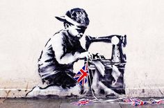 Stolen: Slave Labour by Banksy was removed from the wall