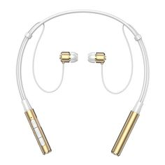 Amazon.com: Bluetooth Headphones, Senbowe™ Magnet Wireless Neckband Bluetooth Headset V4.1 Stereo Noise Cancelling Sweatproof Sports Earbuds with Mic (Gold): Cell Phones & Accessories