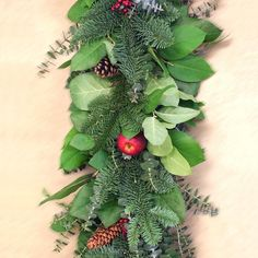 In our Apple Berry Garland, fragrant salal, eucalyptus, and cedar are mixed with quality faux apples & pinecones. Wreaths And Garlands, Holiday Wreaths, Christmas Decorations, Winter Centerpieces, Southern Christmas, Berry Garland, Vintage Holiday, Berries, Winter Season