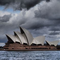 Dramatic clouds over the Sydney Opera House