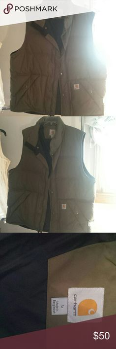 Brand mens carhartt vest never worn Nice brand new great steal for a guy Carhartt Jackets & Coats Puffers