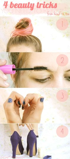 4 beauty tricks you need to know! (all the tricks are cool, but I like the first one about hair the most)