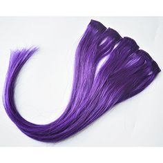 "Moresoo 100% human hair 18 inch Shiny Purple clip in hair extensions for highlights 1.4""*5pcs Moresoo http://www.amazon.co.uk/dp/B00UUNGXN0/ref=cm_sw_r_pi_dp_Kr4-vb0EK7DTN There are four colors clip in hair extensions for highlights. Owning it, being attractive women, delighting your life,"