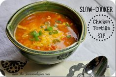Slow-Cooker Chicken Tortilla Soup  www.TheSeasonedMom.com: healthy, easy, and perfect for Cinco de Mayo!